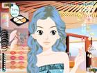 异国女孩化妆