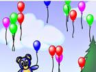 小熊抓气球