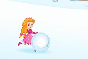 公主推雪球哄宠物