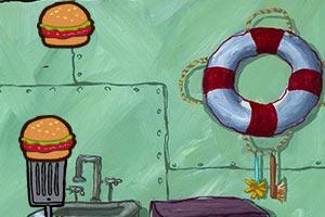 海绵绵宝宝收集汉堡