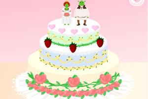装扮婚礼蛋糕