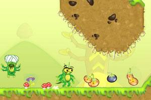 可爱蜘蛛收集水果
