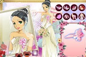 打扮漂亮新娘