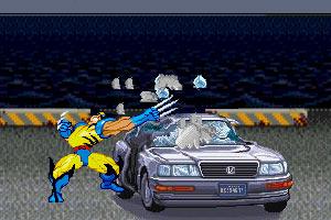 金钢狼破坏汽车