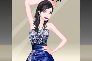 紫色舞会礼服