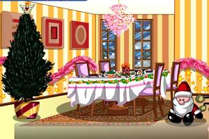 圣诞节浪漫餐厅