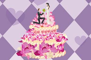 布置婚礼蛋糕