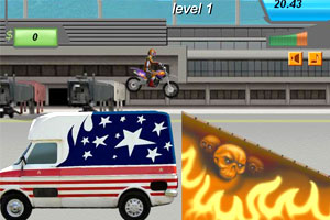 摩托车花样赛