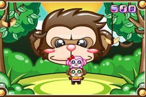 幸福的情侣猴子