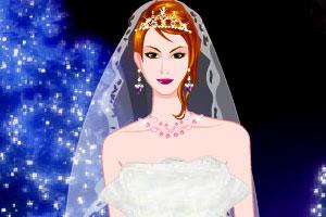 绚丽灯光下的嫁衣
