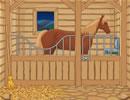 农舍的马棚