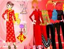 新春红旗袍