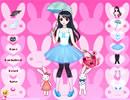 甜美萝莉和兔子