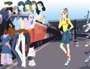 火车站等待的女孩
